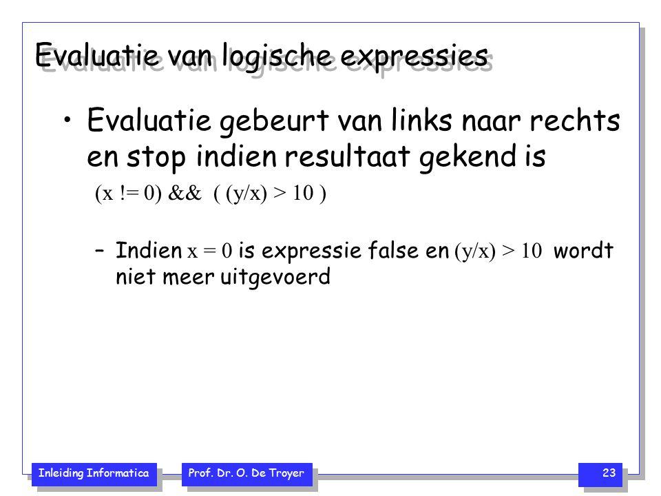 Evaluatie van logische expressies
