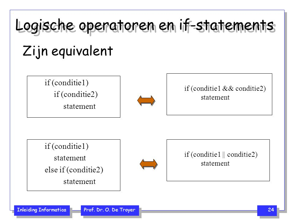 Logische operatoren en if-statements