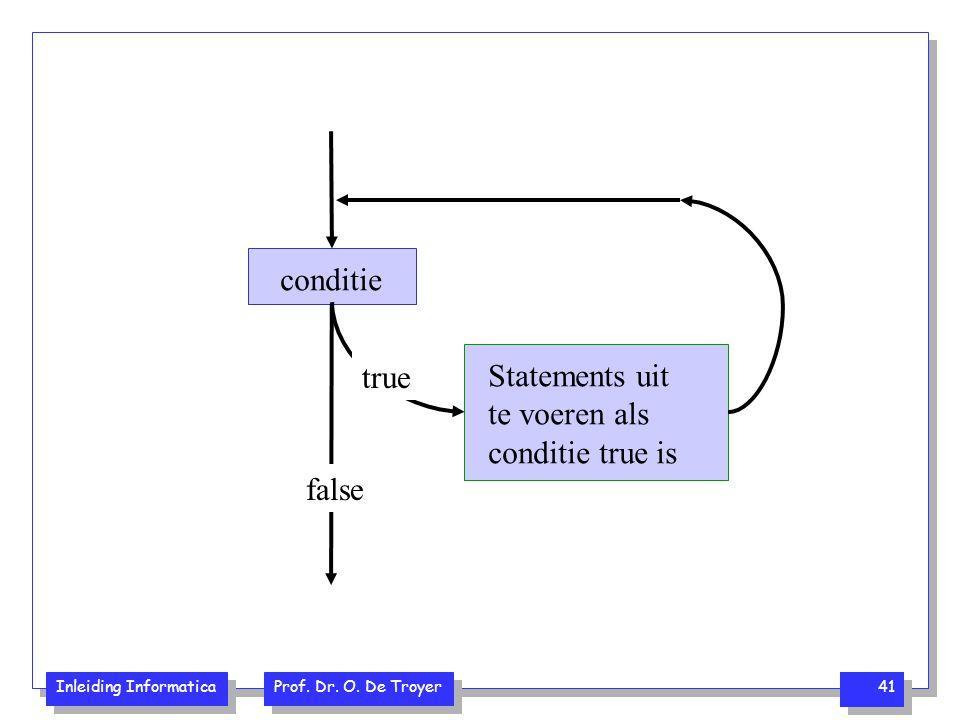 conditie true Statements uit te voeren als conditie true is false