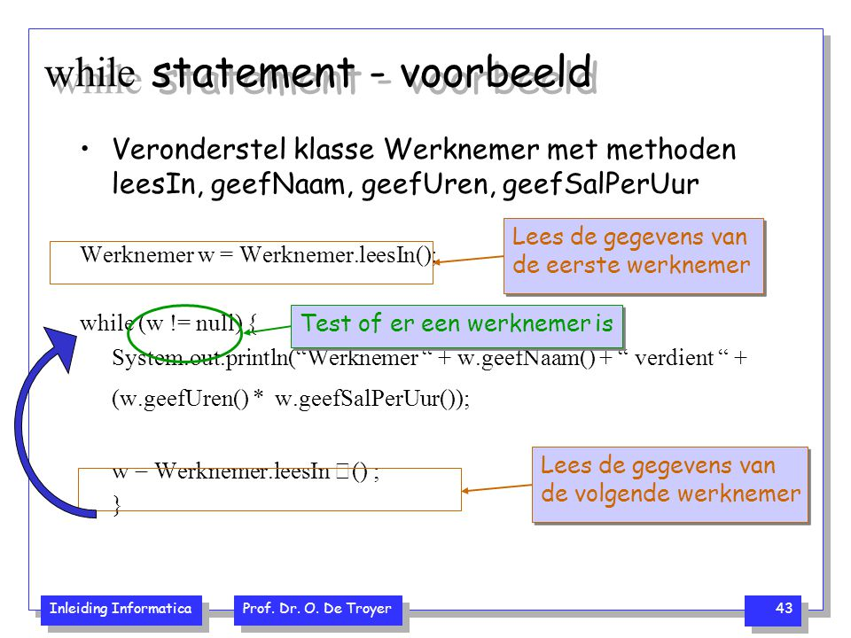 while statement - voorbeeld