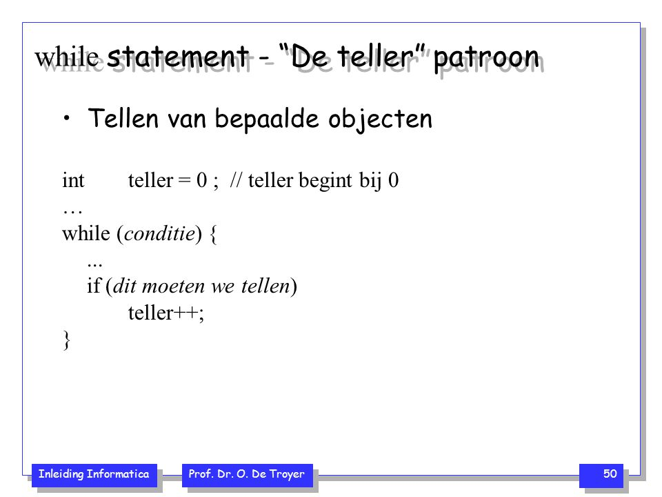 while statement - De teller patroon