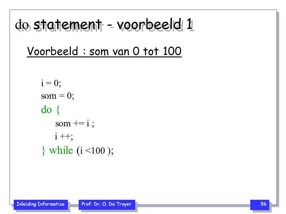 do statement - voorbeeld 1