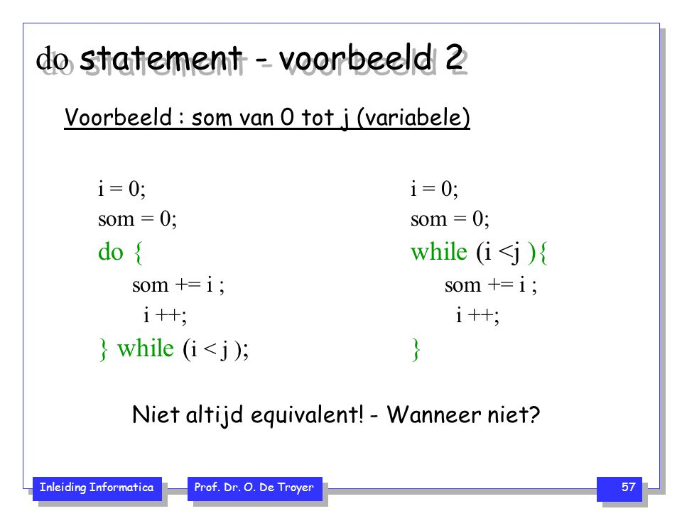 do statement - voorbeeld 2