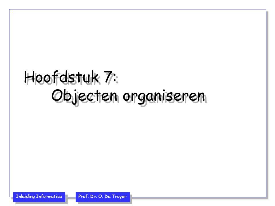 Hoofdstuk 7: Objecten organiseren