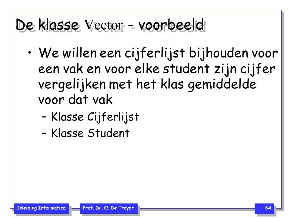 De klasse Vector - voorbeeld
