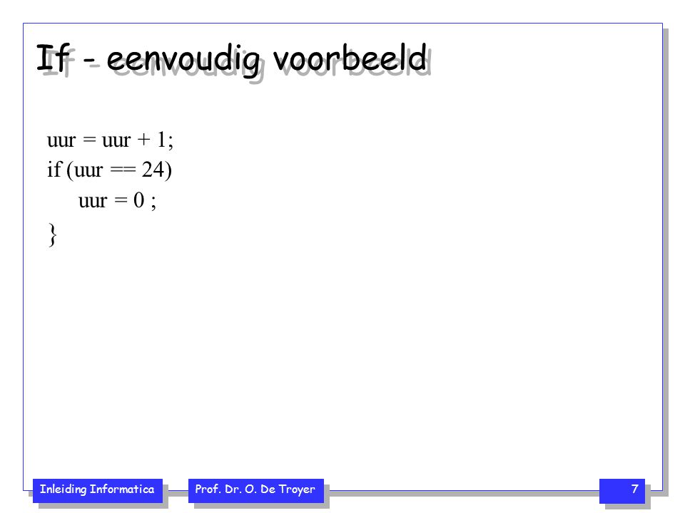 If - eenvoudig voorbeeld