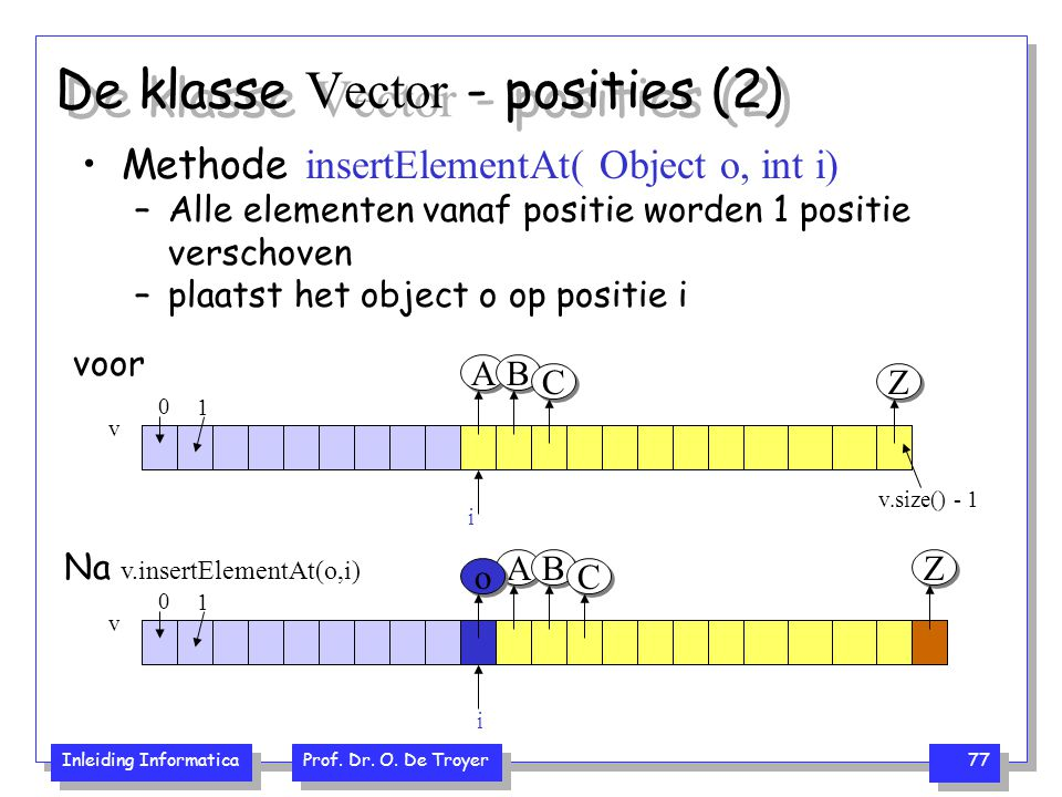 De klasse Vector - posities (2)