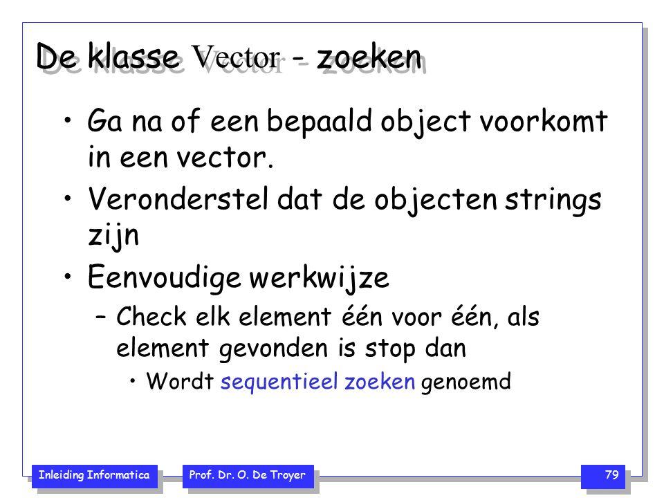 De klasse Vector - zoeken