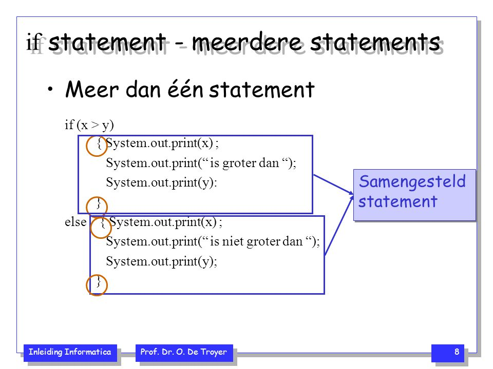 if statement - meerdere statements