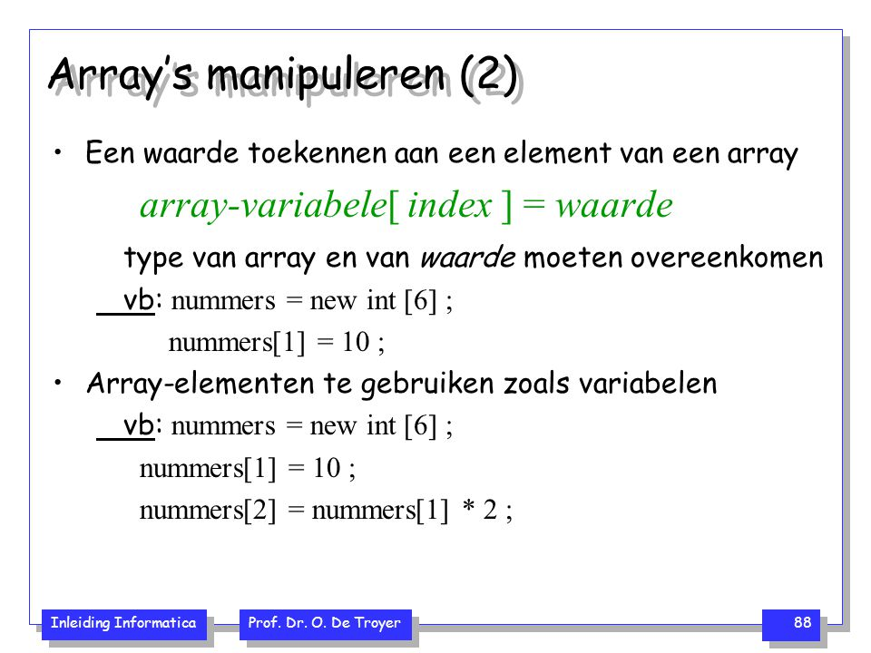 Array's manipuleren (2)