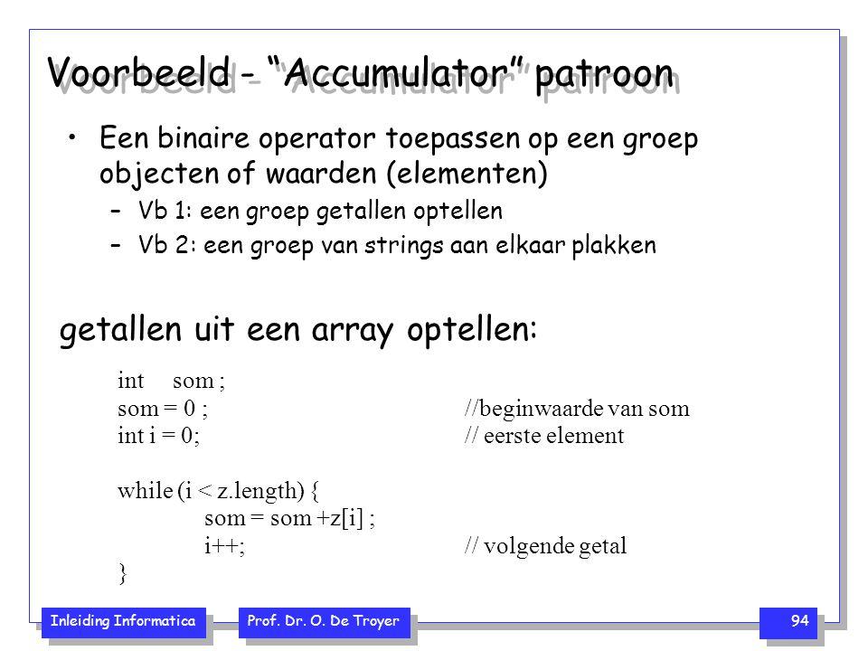 Voorbeeld - Accumulator patroon
