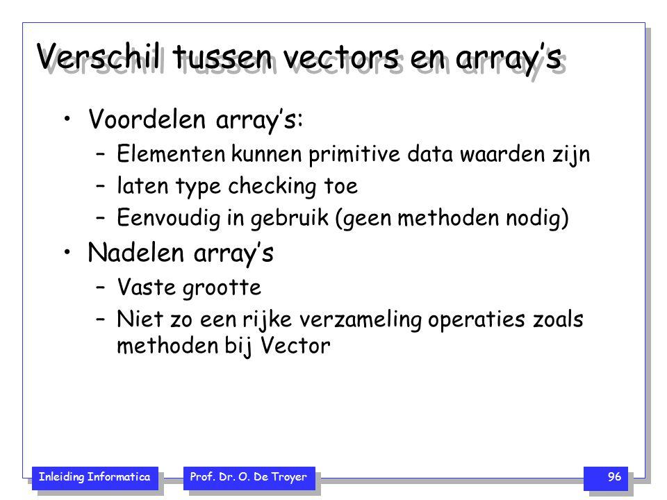Verschil tussen vectors en array's