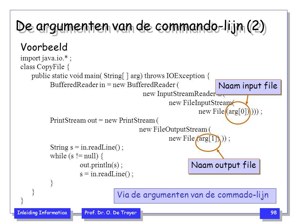 De argumenten van de commando-lijn (2)