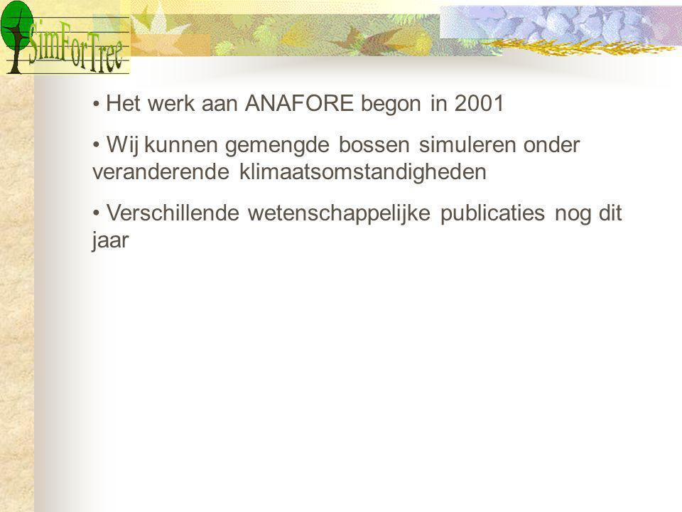 Het werk aan ANAFORE begon in 2001