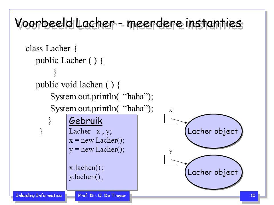 Voorbeeld Lacher - meerdere instanties