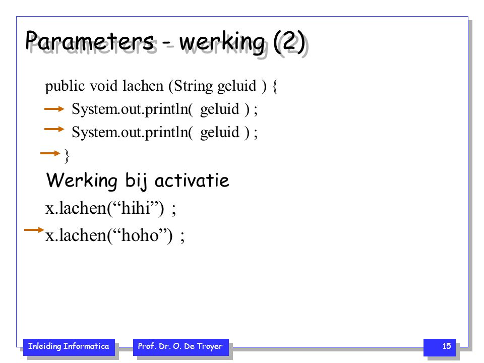 Parameters - werking (2)