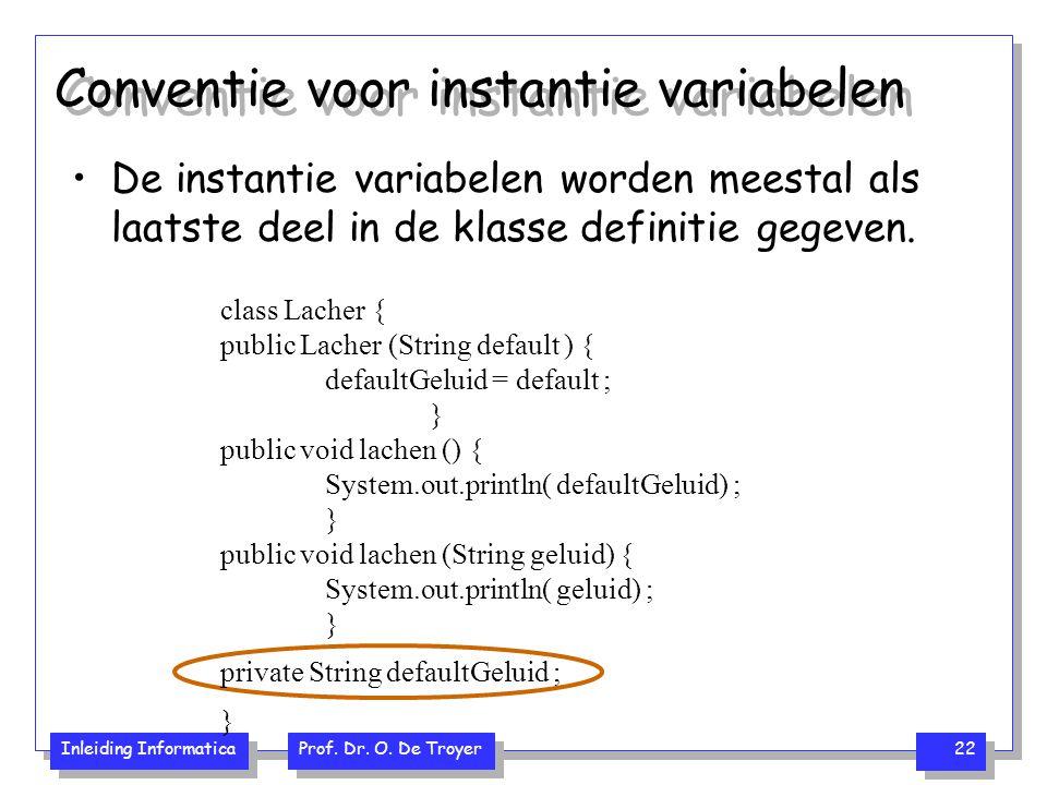 Conventie voor instantie variabelen