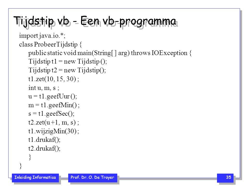 Tijdstip vb - Een vb-programma