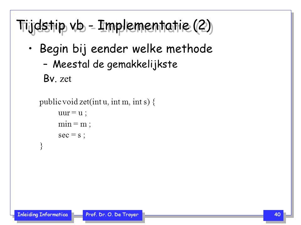 Tijdstip vb - Implementatie (2)