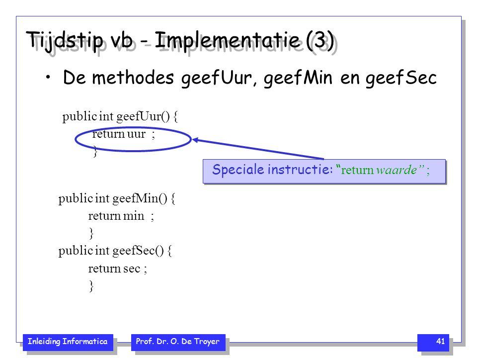 Tijdstip vb - Implementatie (3)