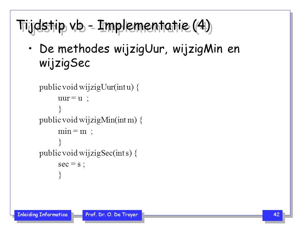 Tijdstip vb - Implementatie (4)