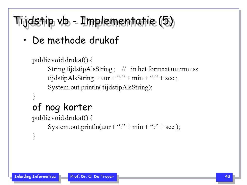 Tijdstip vb - Implementatie (5)