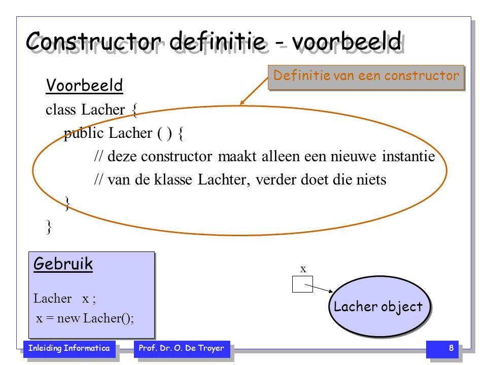 Constructor definitie - voorbeeld
