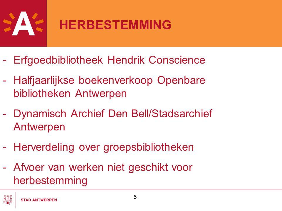HERBESTEMMING Erfgoedbibliotheek Hendrik Conscience