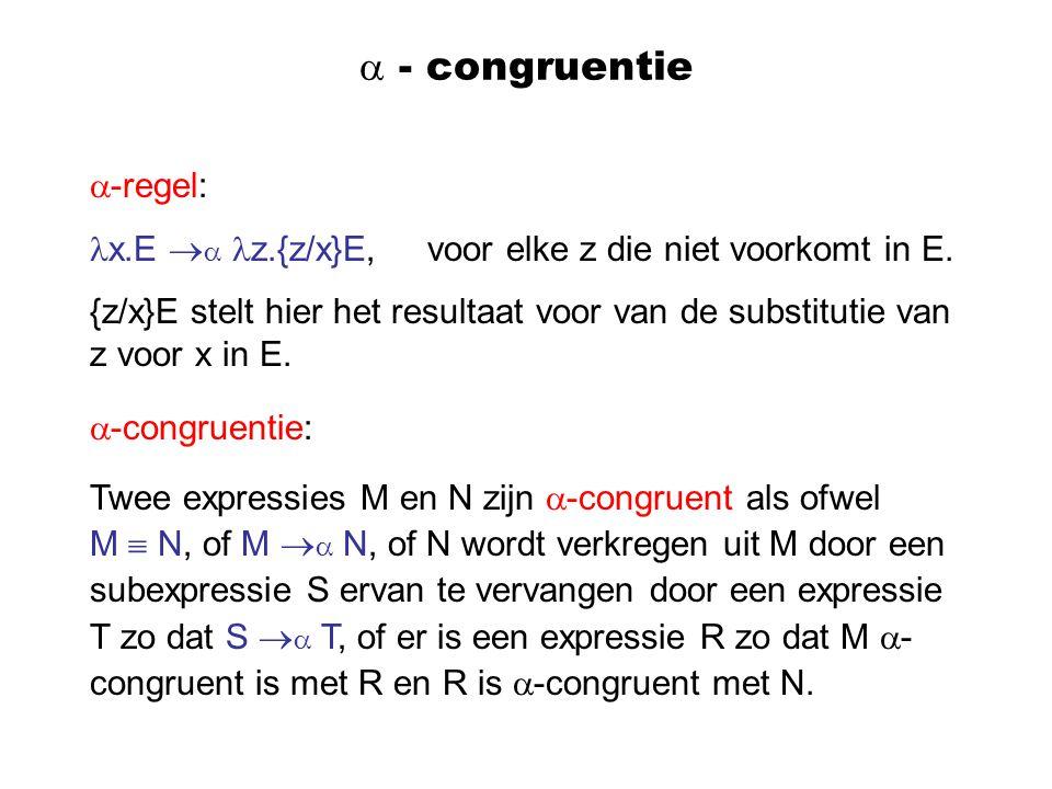  - congruentie -regel: