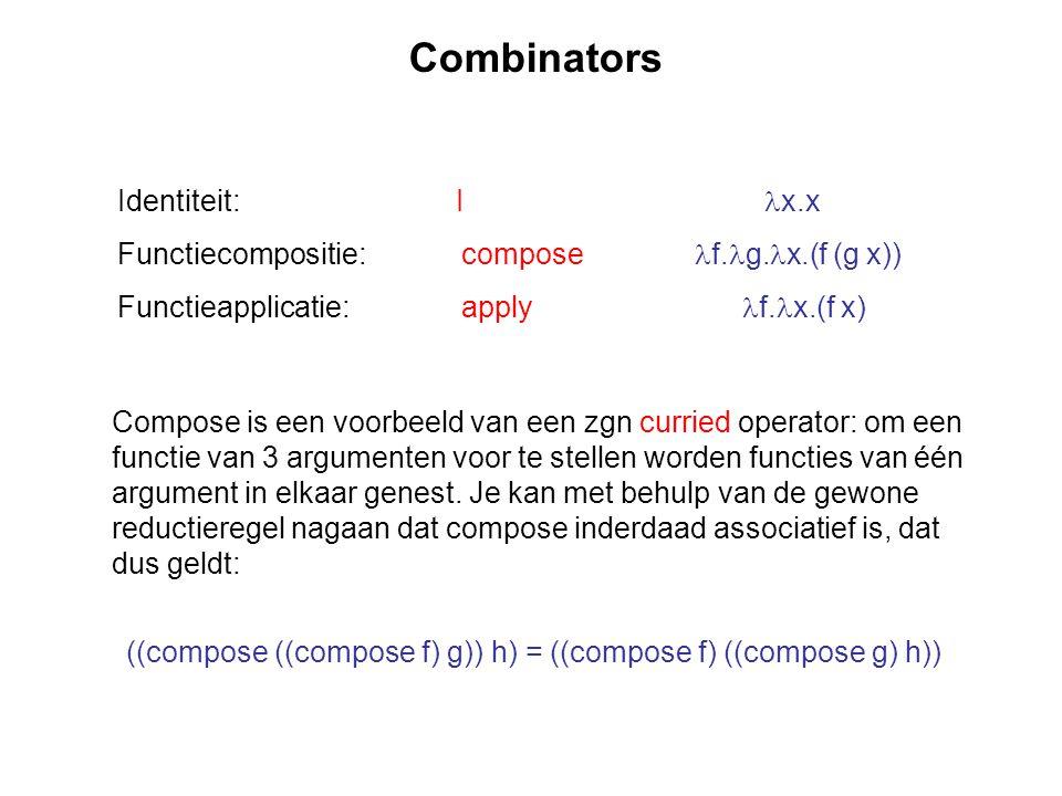 Combinators Identiteit: I x.x