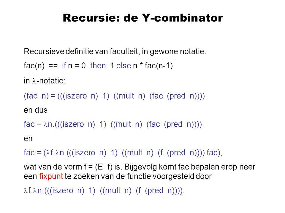 Recursie: de Y-combinator