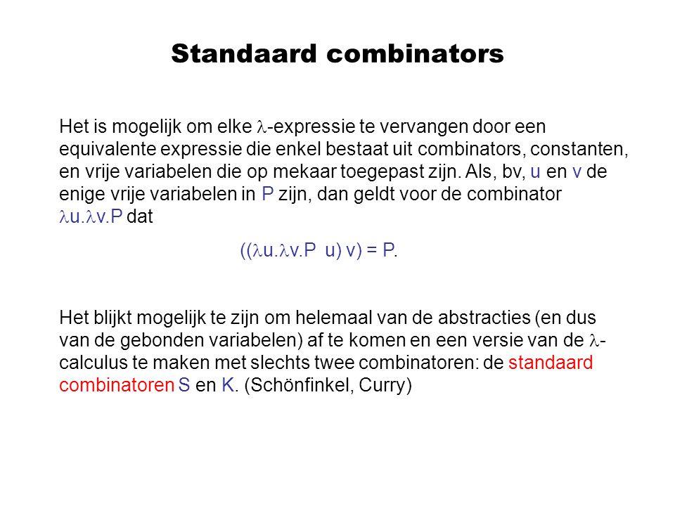 Standaard combinators