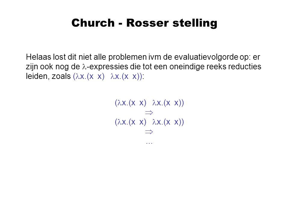Church - Rosser stelling