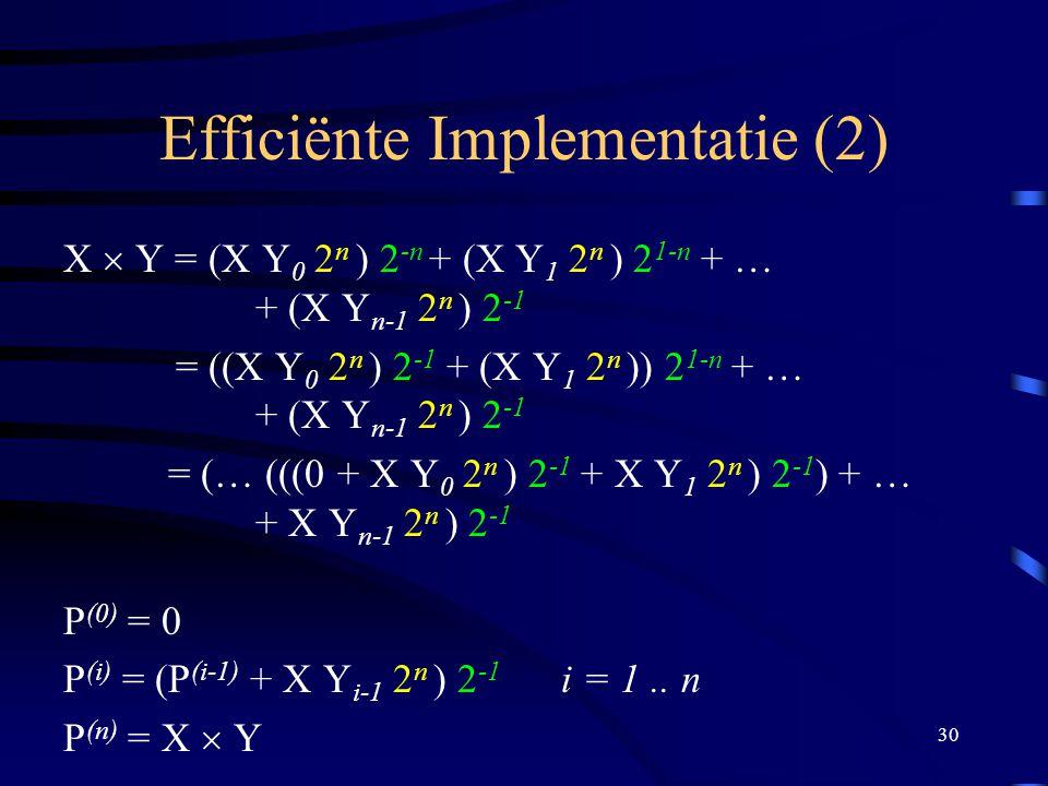 Efficiënte Implementatie (2)