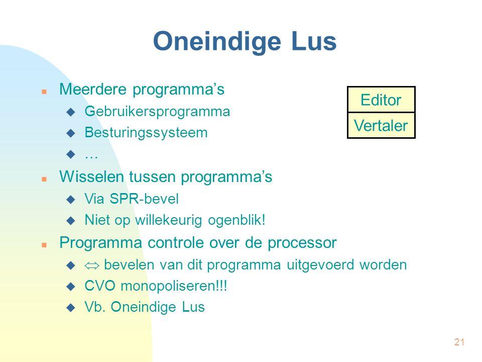 Oneindige Lus Meerdere programma's Editor Vertaler