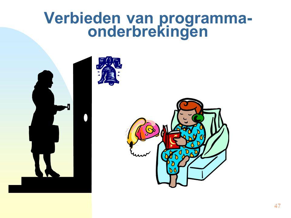 Verbieden van programma-onderbrekingen