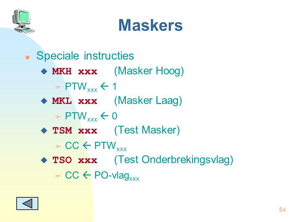 Maskers Speciale instructies MKH xxx (Masker Hoog)