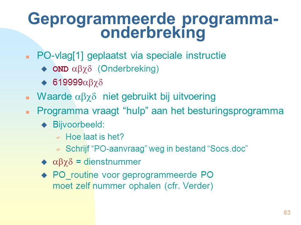 Geprogrammeerde programma-onderbreking