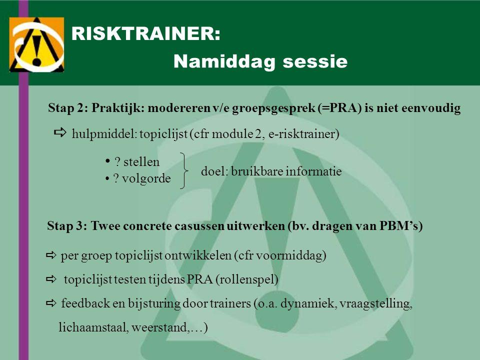 RISKTRAINER: Namiddag sessie