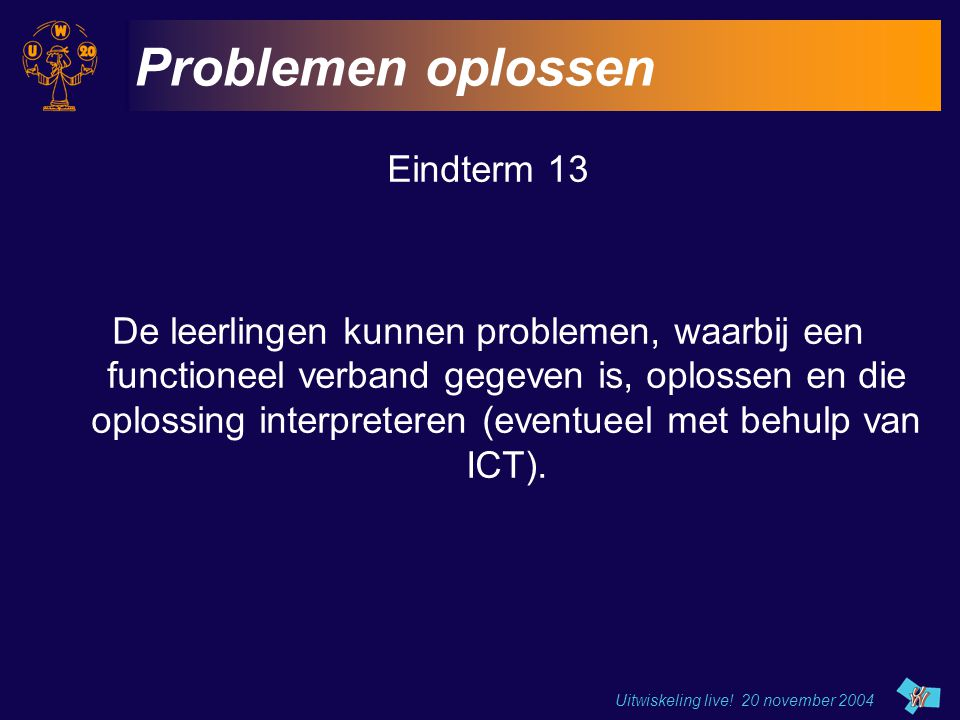 Problemen oplossen Eindterm 13