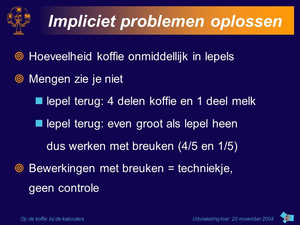 Impliciet problemen oplossen