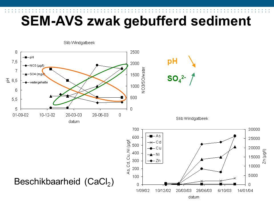 SEM-AVS zwak gebufferd sediment