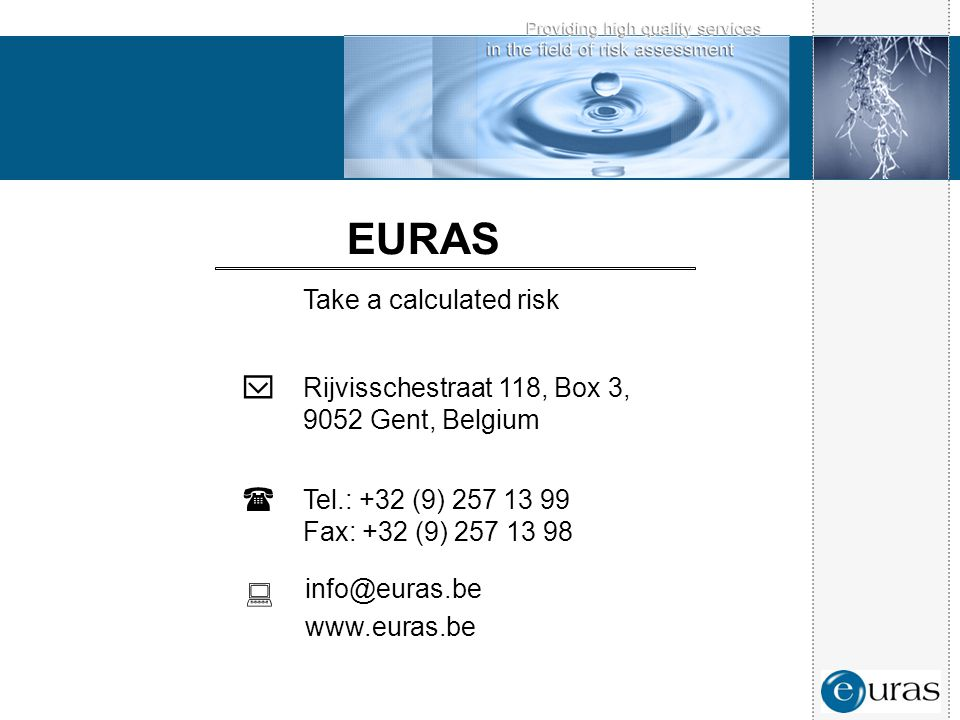 EURAS  ( : Take a calculated risk Rijvisschestraat 118, Box 3,