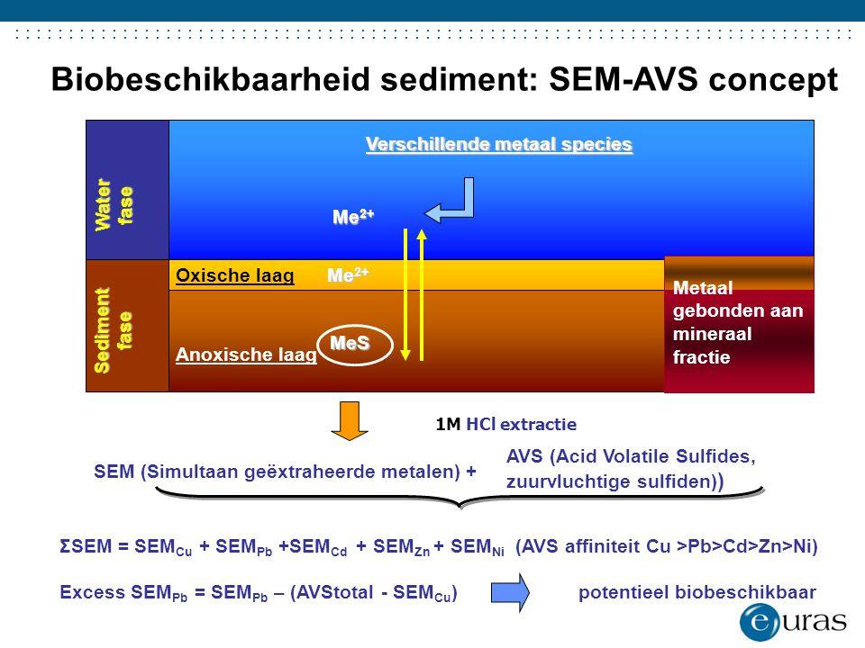 Biobeschikbaarheid sediment: SEM-AVS concept