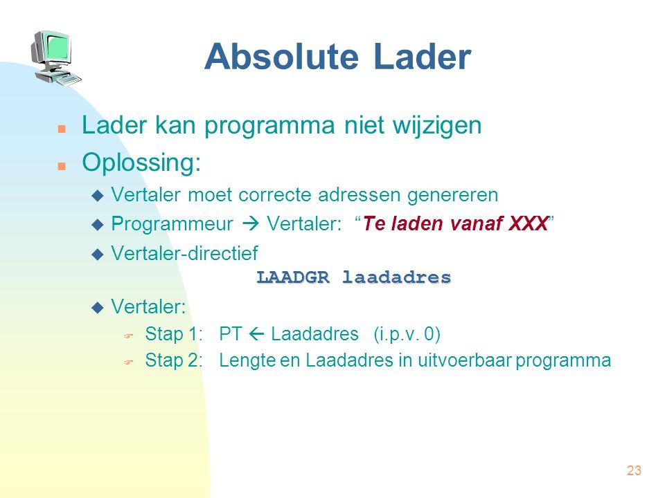 Absolute Lader Lader kan programma niet wijzigen Oplossing: