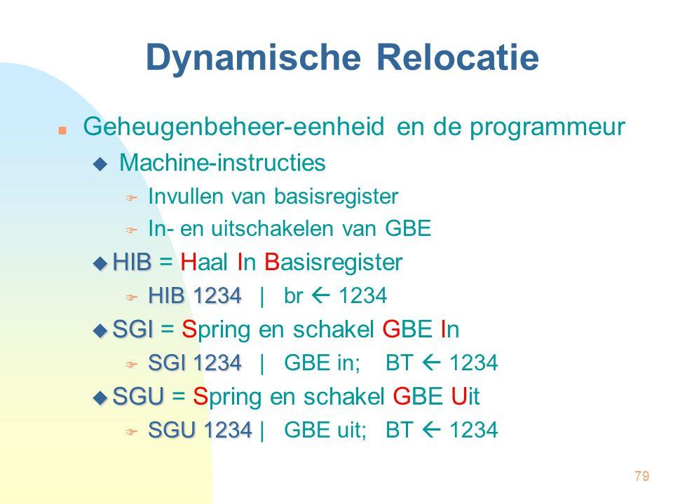 Dynamische Relocatie Geheugenbeheer-eenheid en de programmeur