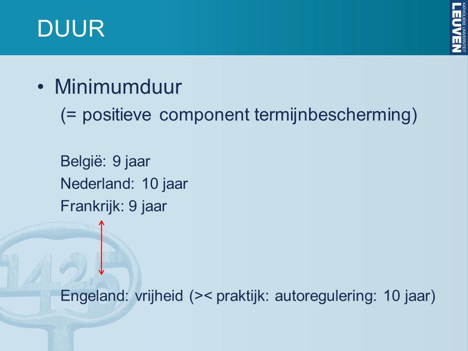 DUUR Minimumduur (= positieve component termijnbescherming)