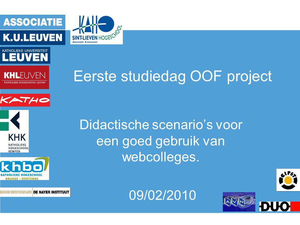 Eerste studiedag OOF project