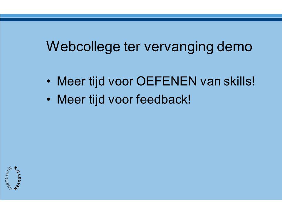 Webcollege ter vervanging demo