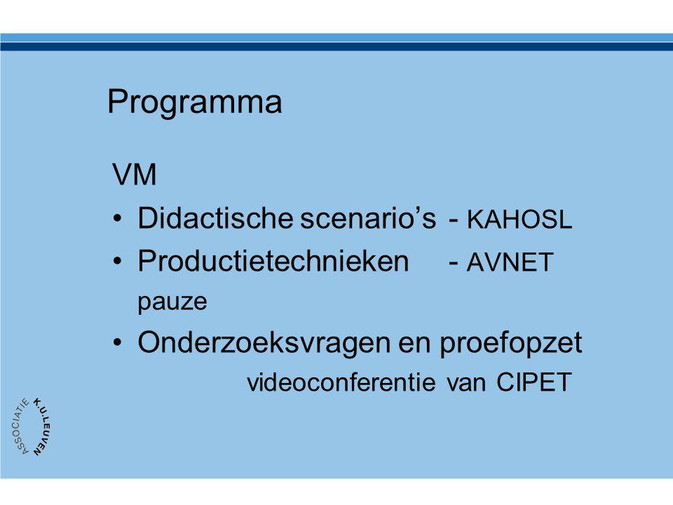 Programma VM Didactische scenario's - KAHOSL